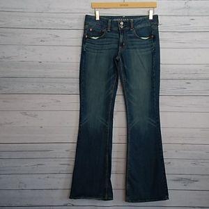 American eagle artist bootcut jeans size 8 long
